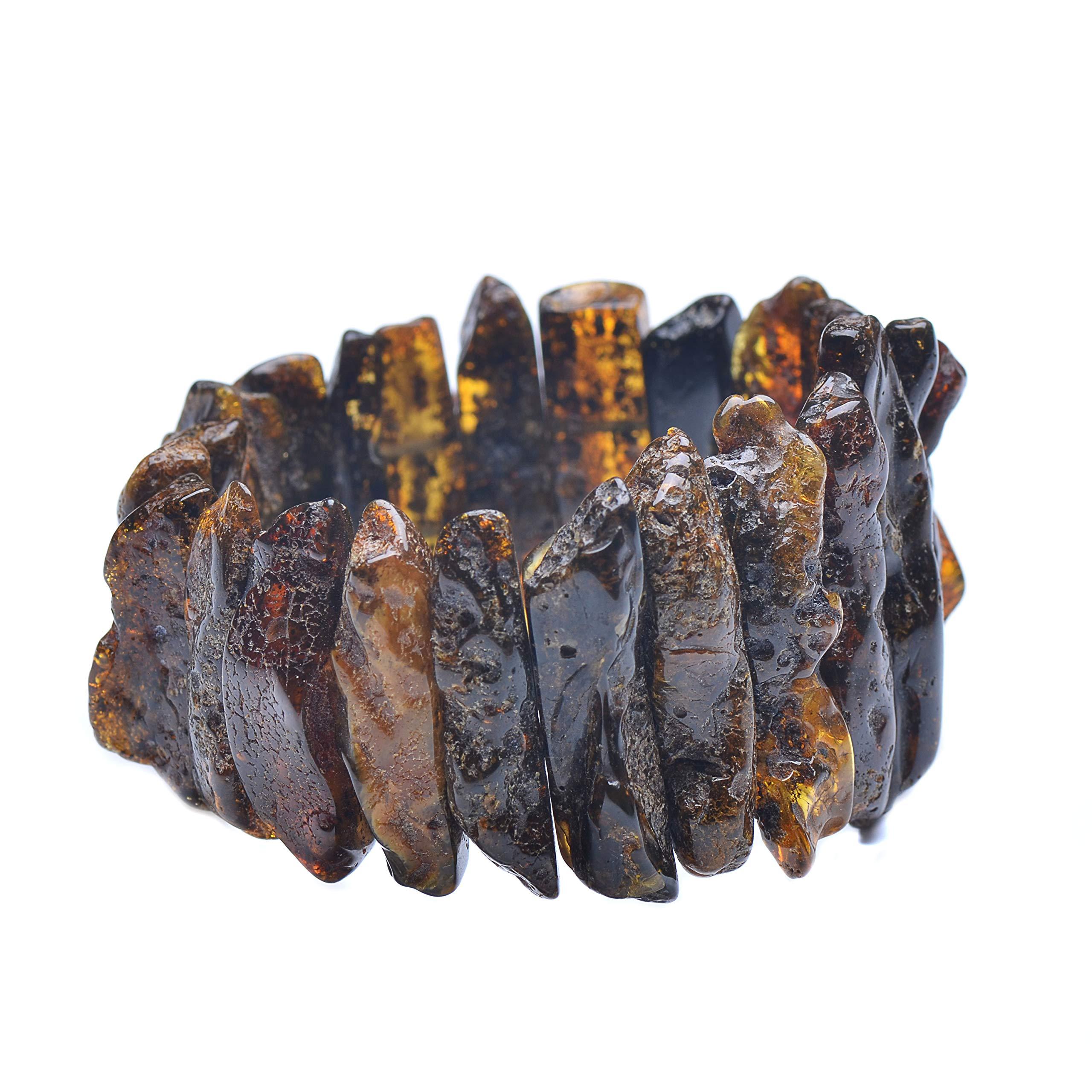 Massive Amber Bracelet - Unique Amber Bracelet - Exclusive Amber Bracelet - Amber Bracelet by Genuine Amber (Image #2)