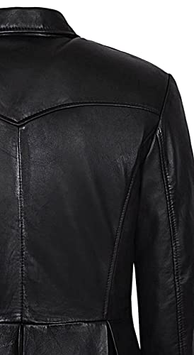Smart Range Mens Morpheus Full Length Matrix Leather Jacket Coat at Amazon Mens Clothing store: