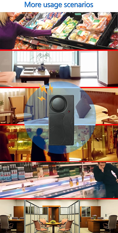 Alarme de Porte et fen/être 110/DB Forte Lumiwell sans Fil dalarme de Vibration avec t/él/écommande dalarme antivol pour v/élo//Moto//v/éhicule Alarme de s/écurit/é