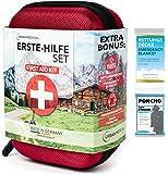 Premium första hjälpen-kit från Tyskland Urban Medical® | DIN 13167 | GRATIS räddningsfilt | Camping sport resor cykel…