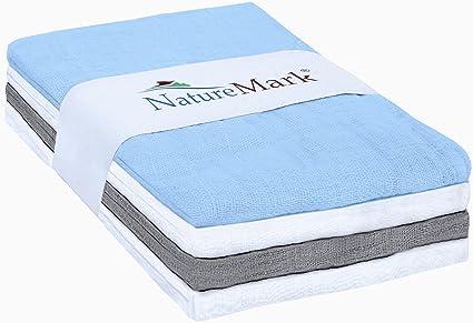 natural Mark® 4 unidades Mull paños | Gasas | pañales de tela | spuck paños