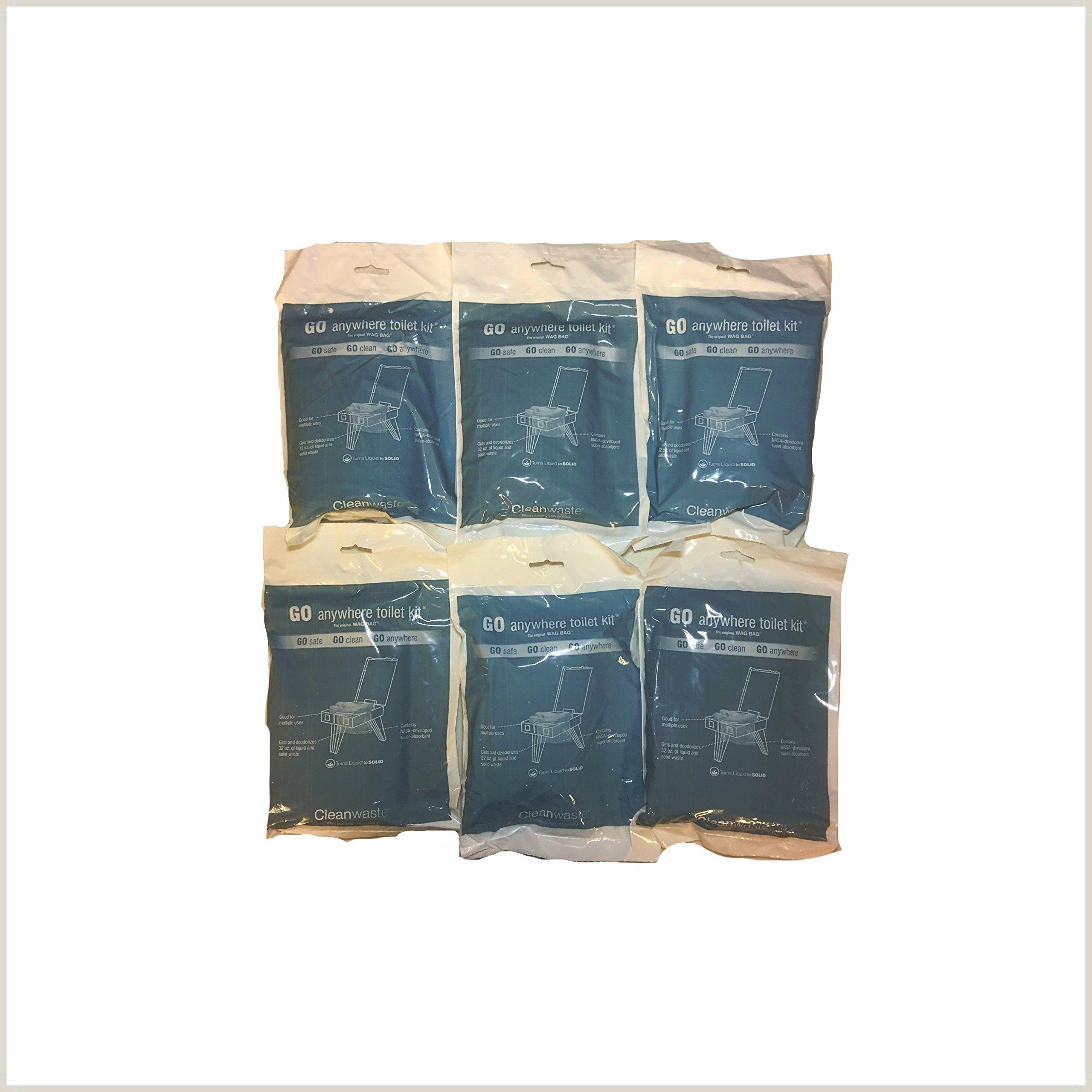 Cleanwaste Wag Bags Toilet Kit Pack of 6