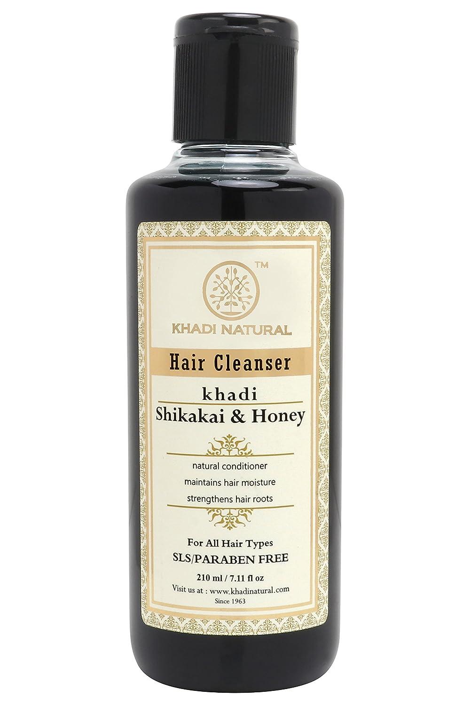 Image result for Khadi Natural Ayurvedic Shikakai Honey Hair Cleanser SLS and Paraben Free, 210ml