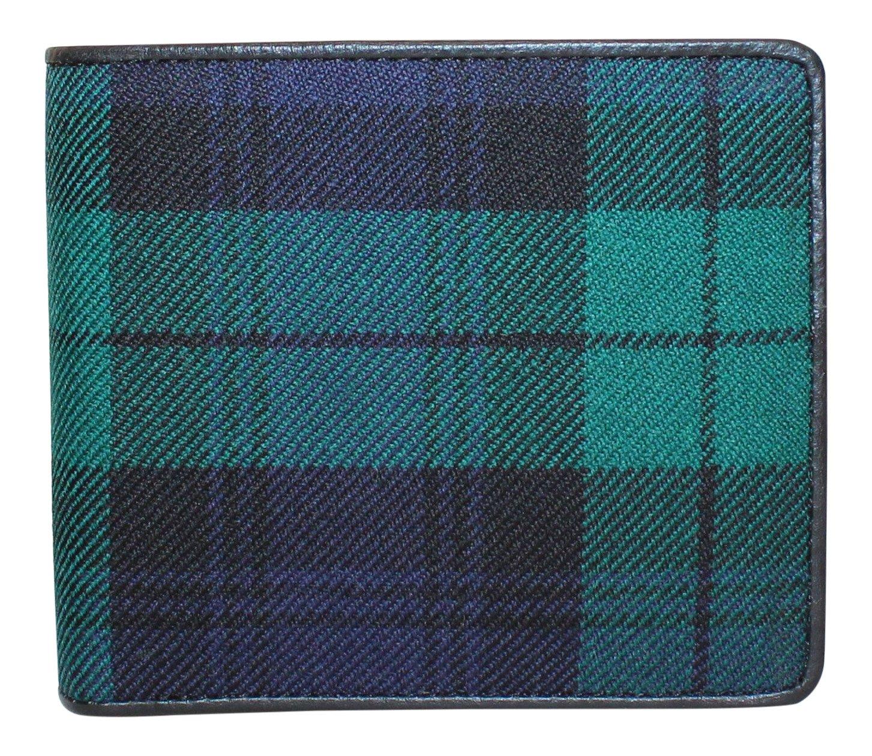 100 % Scottish Tartan & Realレザーメンズ財布 – ブラック腕時計 B0753D11HJ