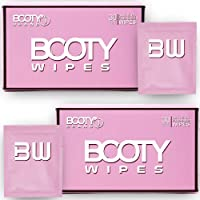 BOOTY WIPES for Women - 60 Individually Wrapped Flushable Feminine Wet Wipes for Travel, Flushable Wipes for Adults, pH…