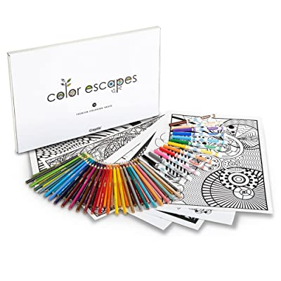 Crayola Color Escapes Coloring Pages & Pencil Kit, Geometric Edition: Toys & Games