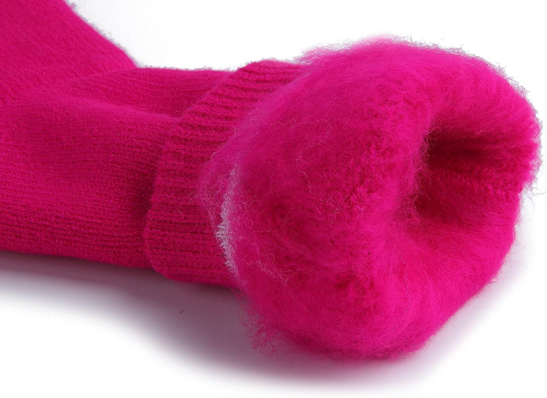 JARSEEN Warme Winter Thermosocken mit Vollpl/üsch und Wolle Dicke Weiche Stiefel Socken Damen Herren