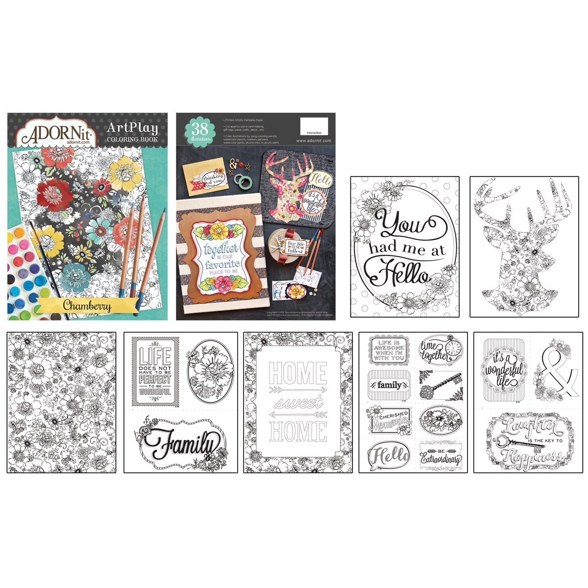 Chamberry Coloring Book ADORNit 533229 Crafts & Hobbies