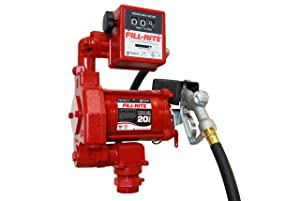Fill-Rite FR701V 115V 20GPM Fuel Transfer Pump with Discharge Hose, Manual Nozzle, & Mechanical Gallon Meter