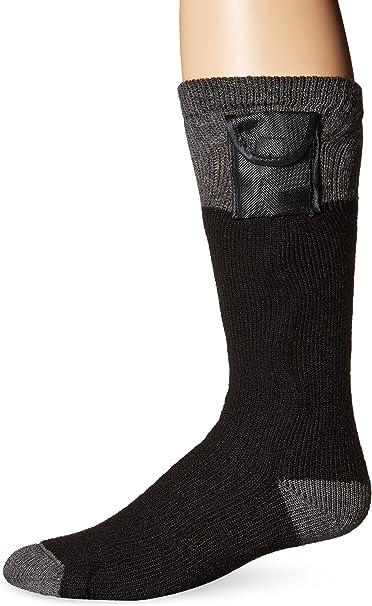 4 Pairs Workboot Winter Crew Socks Heather Black Thick Bottom Cotton 9-11 10-13