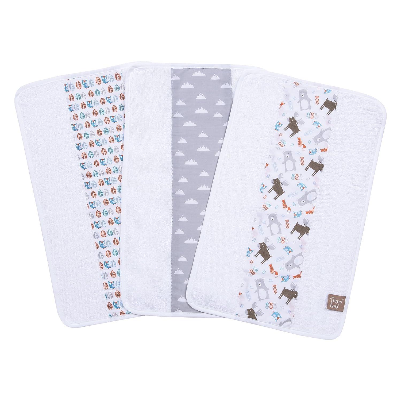 Trend Lab Scandi Forest 3 Piece Jumbo Burp Cloth Set, Multi 102799