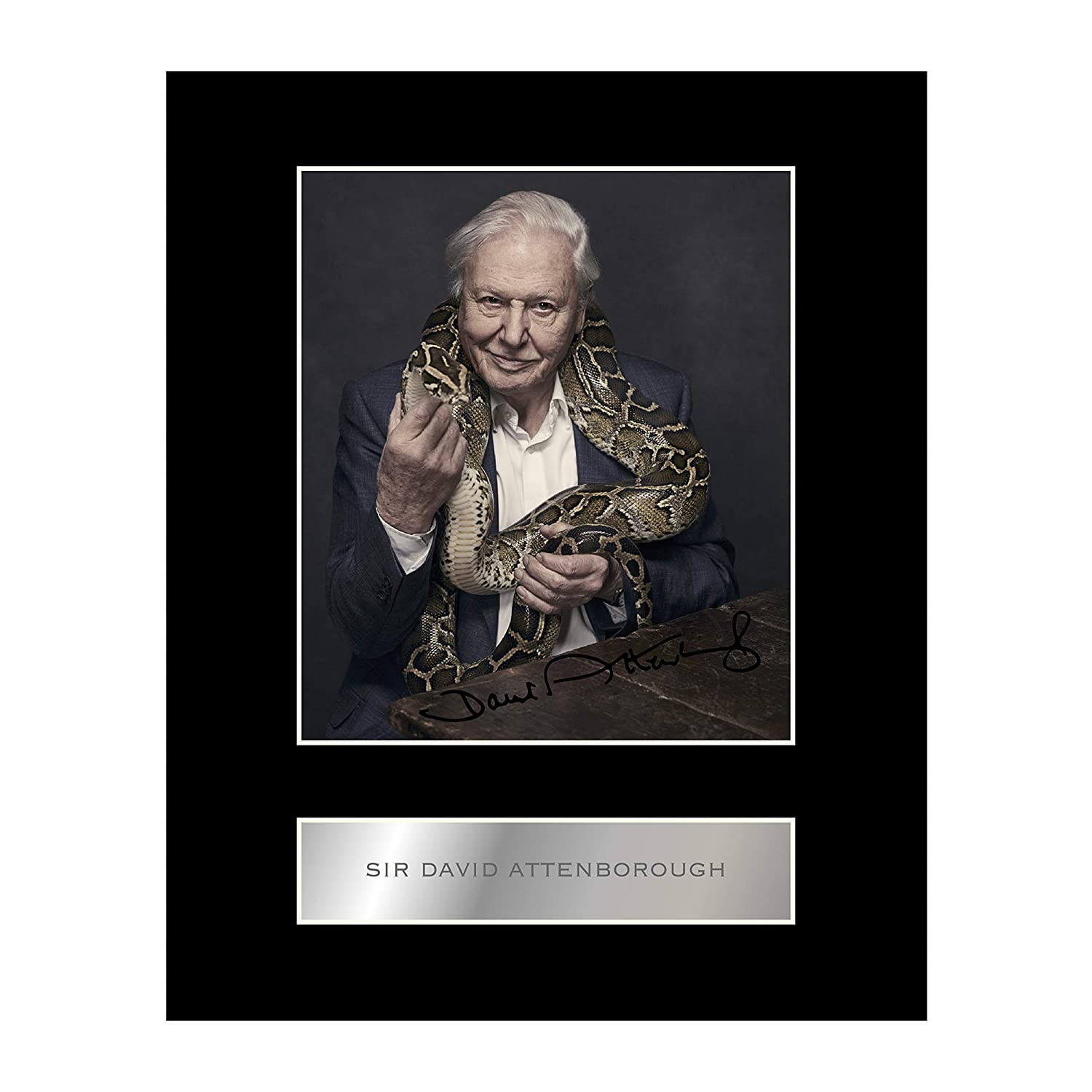 Sir David Attenborough Signed Mounted Photo Display #3 Autographed Gift Picture Print Iconic pics