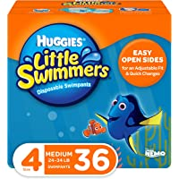 Huggies Little Swimmers Disposable Swim Diapers, Swimpants, Size 4 Medium (24-34 lb.), 36 Ct. (Packaging May Vary)