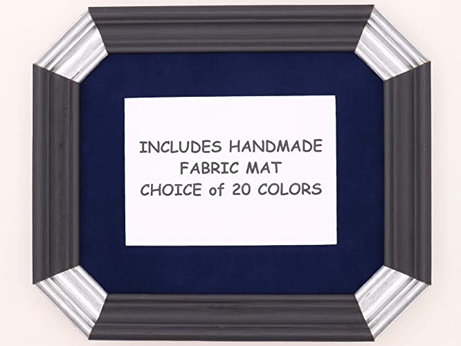 Amazon.com  Art Deco Style Picture Frame with 20 Fabric Mat Color ... e548a4fc1