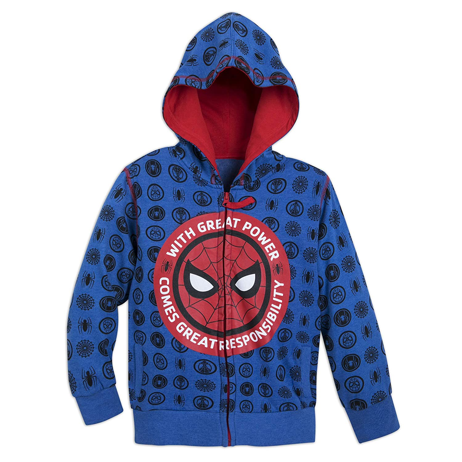 Marvel Spider-Man Hoodie for Boys - Blue