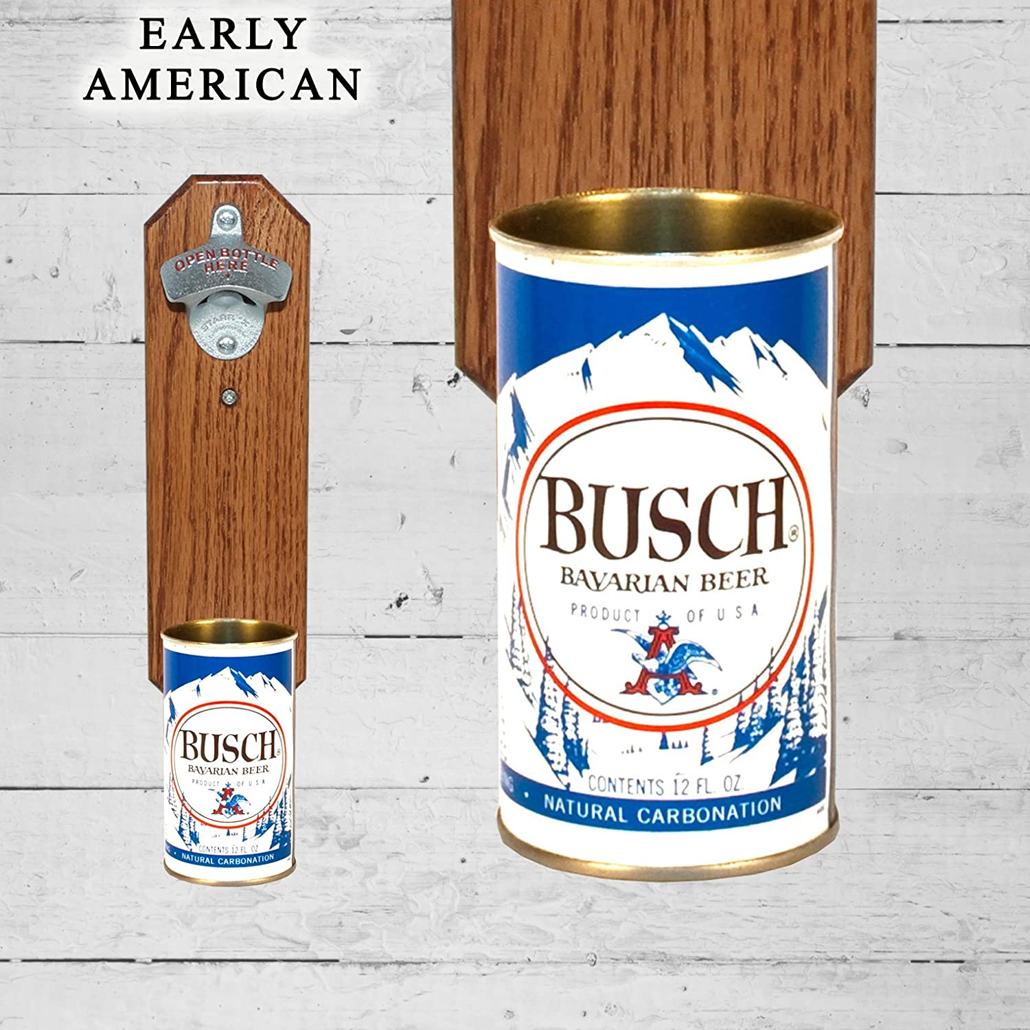 Amazon com: Wall Mounted Bottle Opener with Vintage Busch