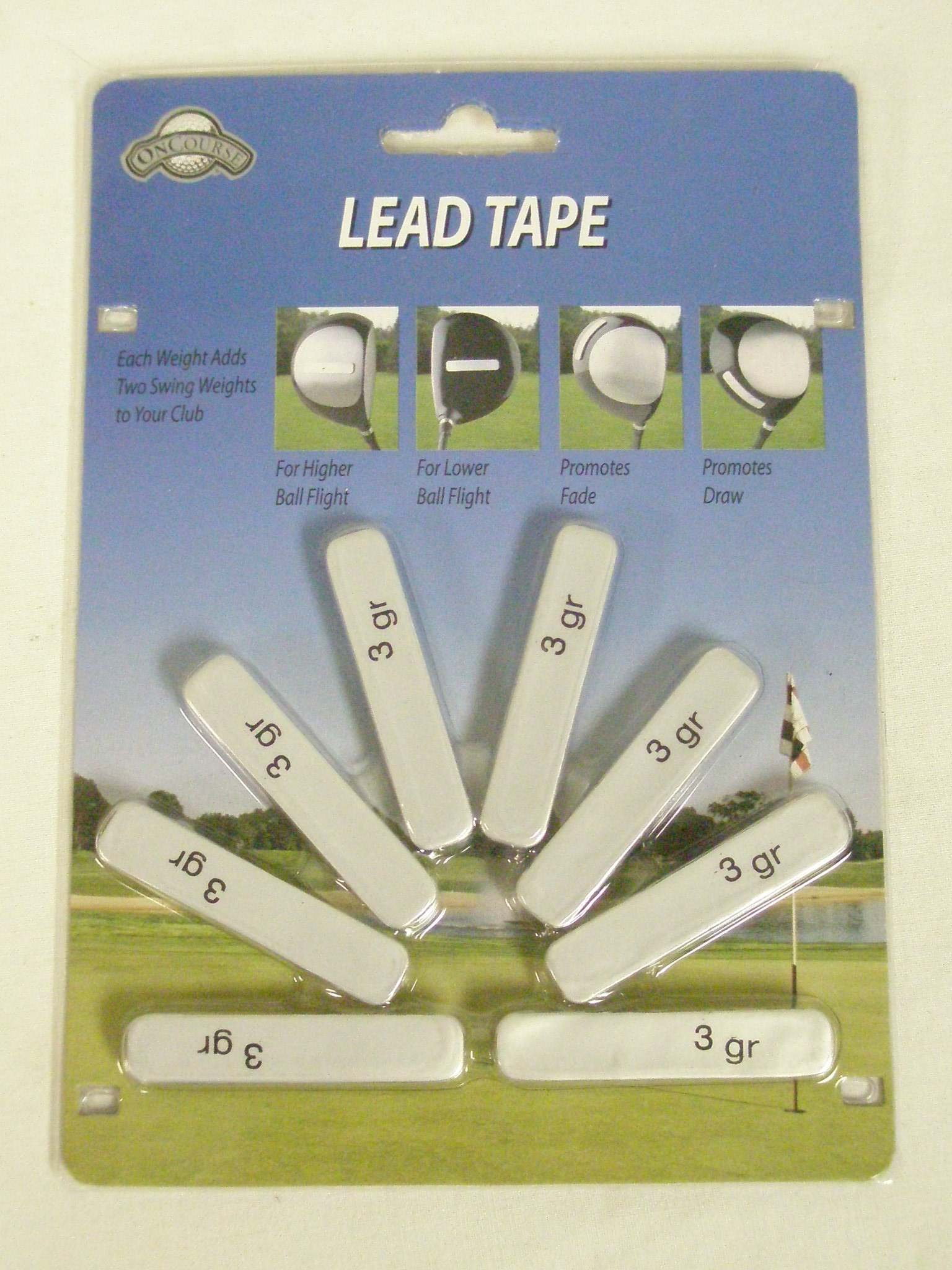 Golf Club Head Weights 8 Pre Cut Lead Tape Strips New