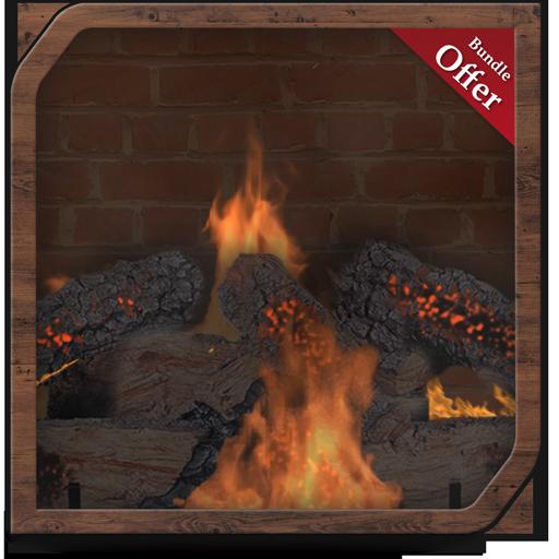 Romantic Firefly HD - Fireplace Wallpaper & Themes ()