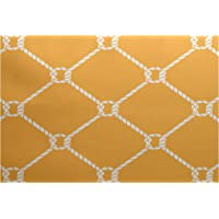 E by design RGN410YE8-23 2 x 3-ft, Ahoy!, Rug, Yellow