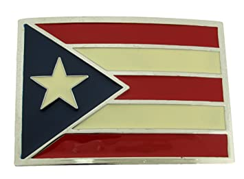 Puerto Rican Flag Country Design Belt Buckle Collect