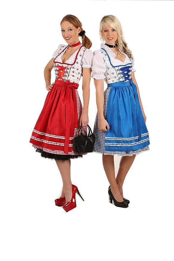kariert rot NEU süßes Dirndl,3 tlg.Set,Kleid,Bluse,Schürze,rot Gr.40