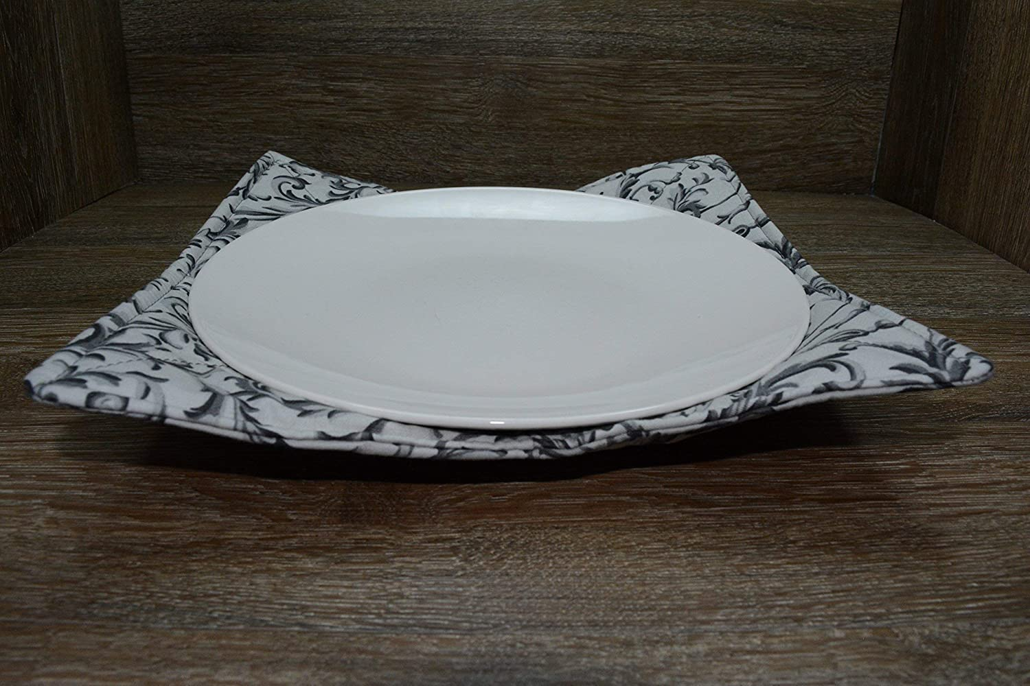 1 Small Bowl Cozy 1 Medium Bowl Cozy and 1 Dinner Plate Cozy Microwave Dish Cozies Set of 3 Shaded Slate
