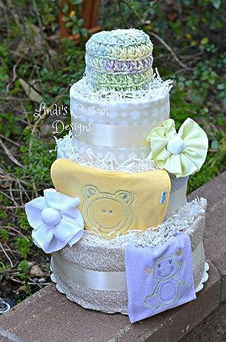 Amazoncom Girl Diaper Cake Frog Handmade