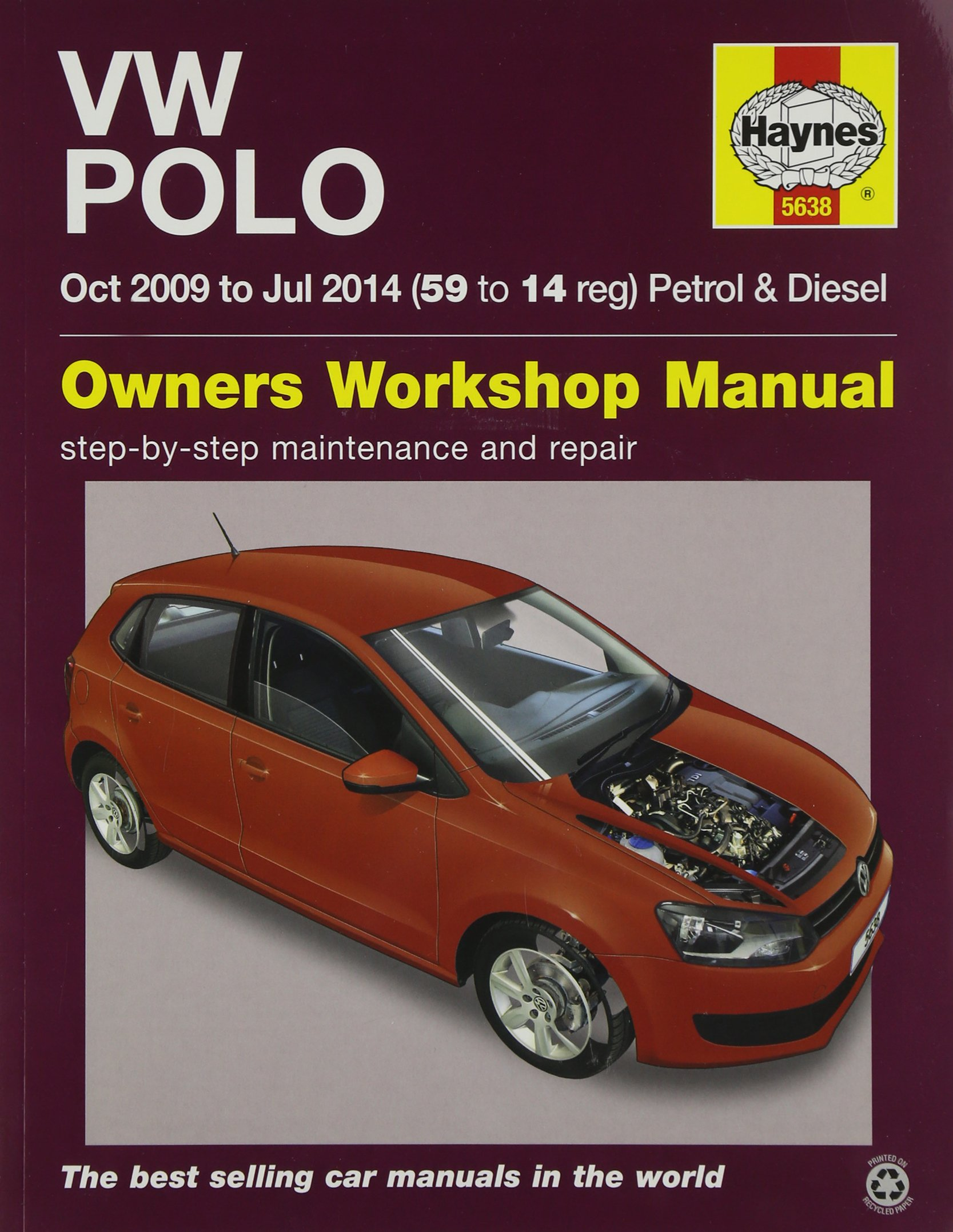 VW Polo Petrol And Diesel Oct 09 - Jul 14 59 To 14: 09-14: Amazon ...