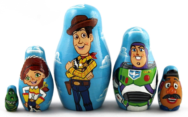 Amazon.com: Toy Story Wooden Nesting Russian Dolls Matryoshka Gifts ...