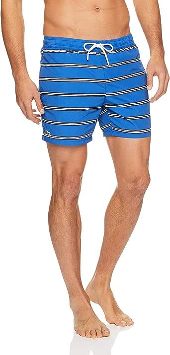 Lacoste Men's Printed Stripe Swim Shorts