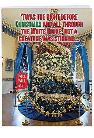 Amazoncom Funny Trump Twas The Night Merry Christmas Card Xl