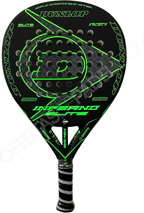Dunlop Pala de Pádel Inferno Elite Green: Amazon.es: Deportes y ...