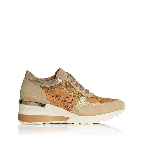 ALVIERO MARTINI 1°Classe-Donna-Sneakers con Zeppa Geo Classic in Pelle  Scamosciata 60bcb48e5c4