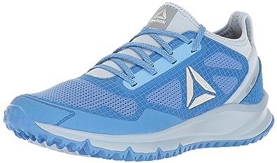 328fcdd9adc15 Reebok Women s All Terrain Freedom Running Shoe Echo Gable Grey Sky  Blue Asteroid Dust