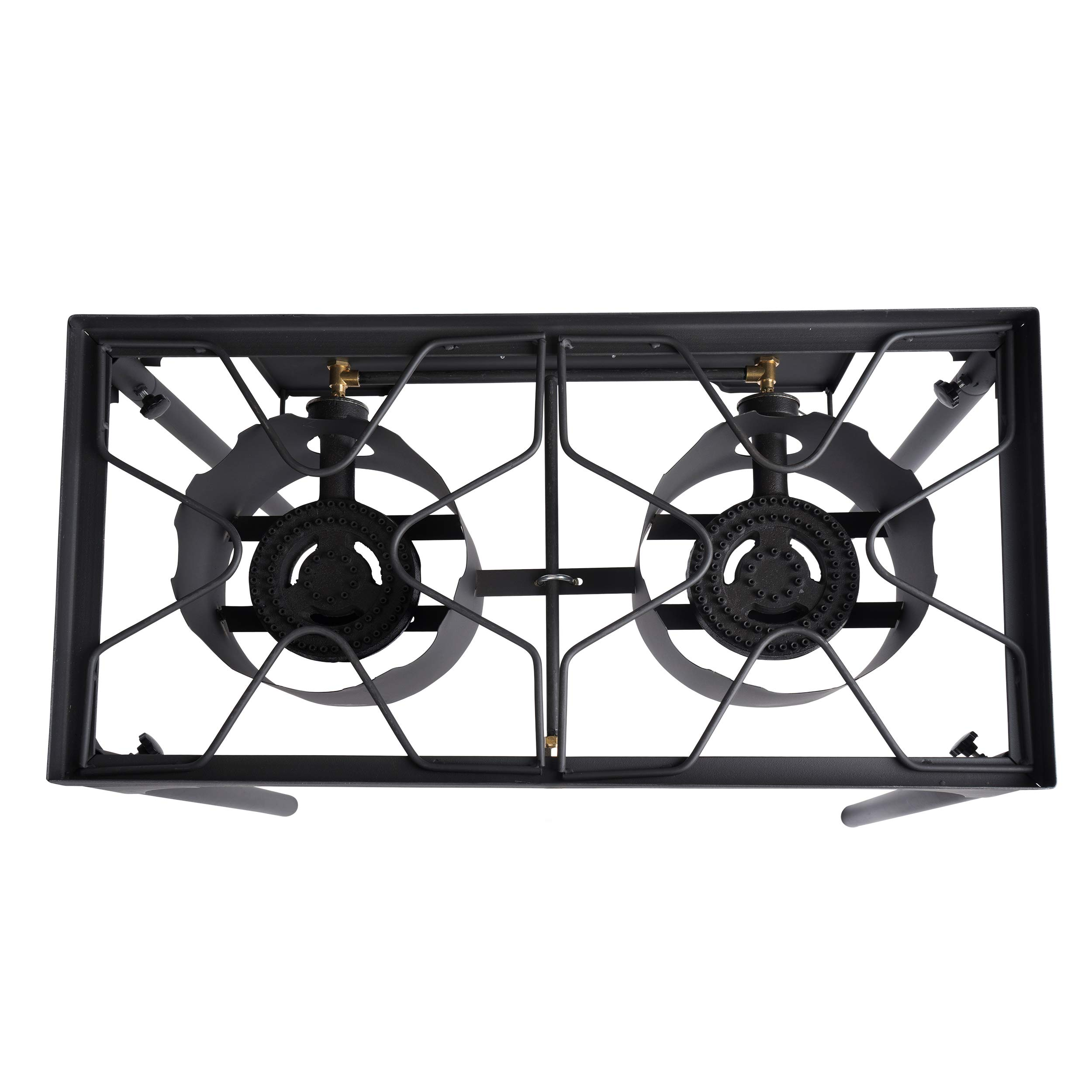 Leaderware High Pressure Gas Cooking Stove with 2 Burners, Outdoor Camping Kitchen Accessories by Leaderware (Image #2)