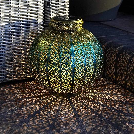 Farol de jardín marroquí, funciona con energía solar, lámpara de ...