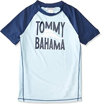 Tommy Bahama Big Boys Uv Protection Swim Shirt Rashguard