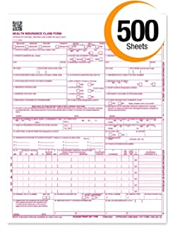 Amazon.com : NEW CMS 1500 Claim Forms - HCFA (Version 02/12) (500 ...