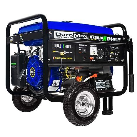 DuroMax 4400 W combustible Dual híbrida portátil generador