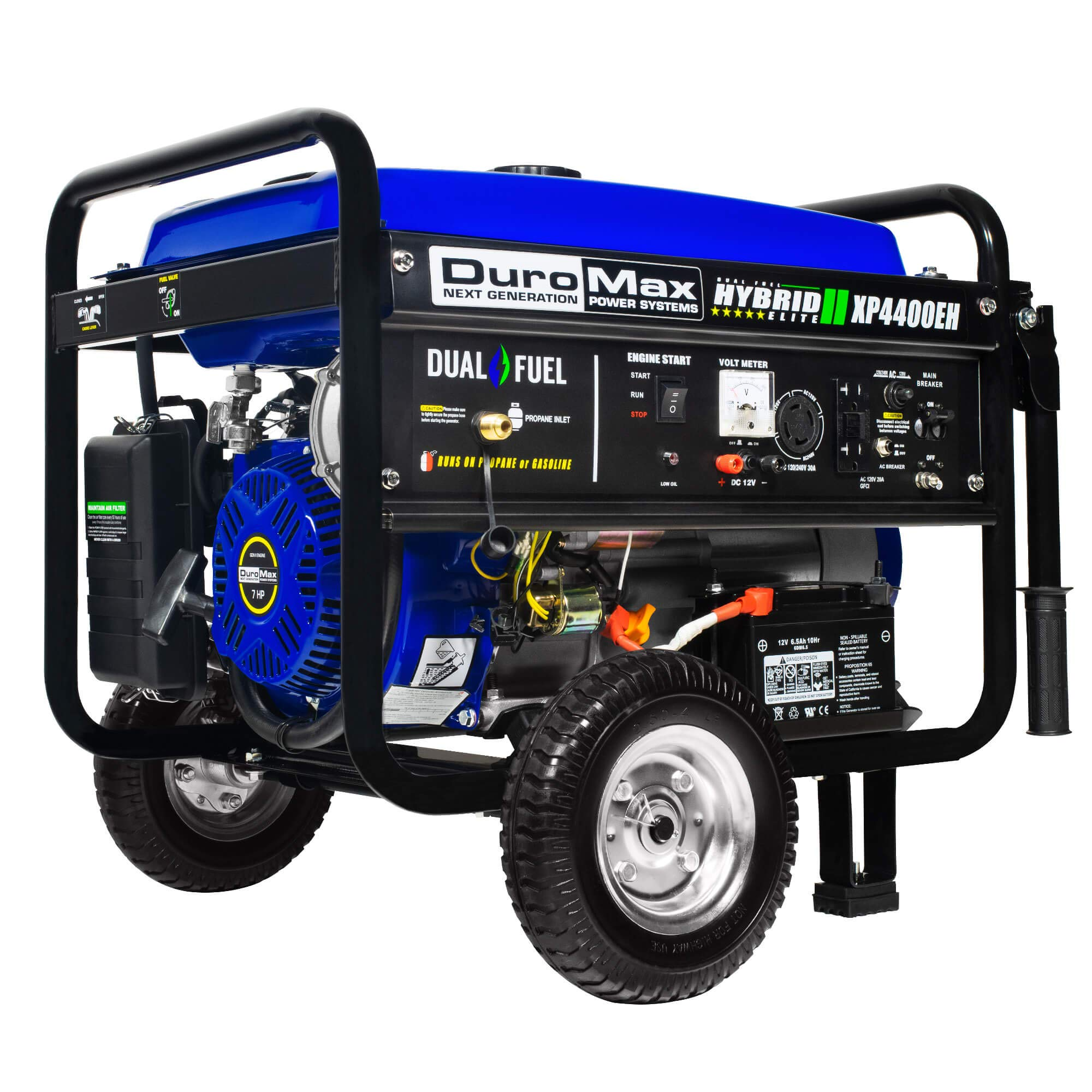 Duromax XP4400EH Dual Fuel 4400 Watt Electric Start