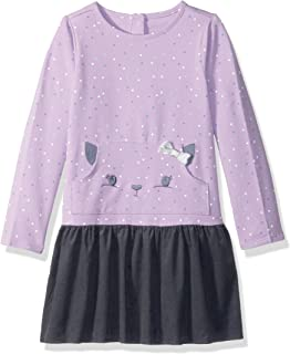 397585d062654 Amazon.com: Gymboree Girls' Toddler Long Sleeve Fleece Dress Snowman ...