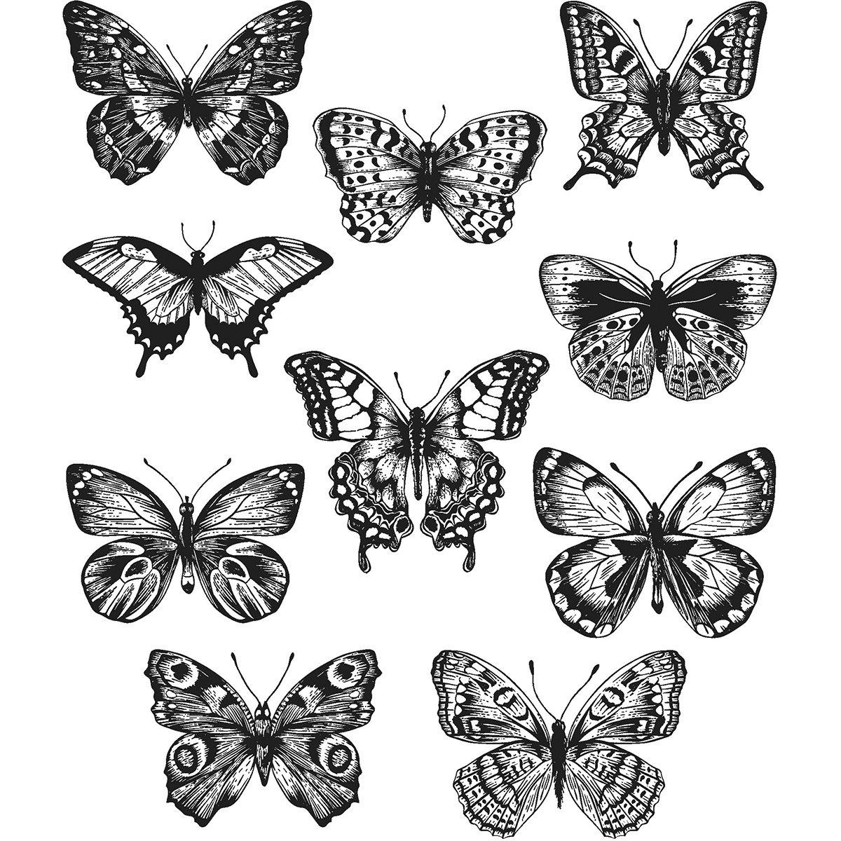 Tim Holtz Cling Stamps 7''x8.5''-flutter