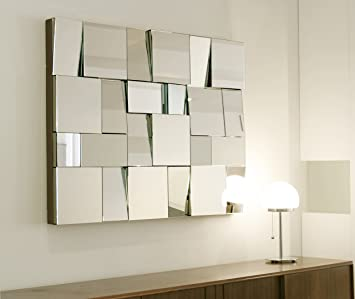 Belle Maison Art Deco rechteckig Mosaik Multi Facettenspiegel ...