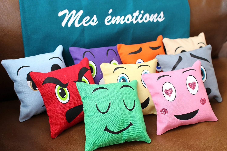 Coussins émotions inspiration montessori, jouet enfant, coussins d'apprentissage, jeu enfant, apprentissage bébé, jeu bébé, jouet bébé coussins d'apprentissage
