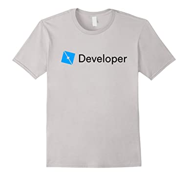 mens roblox studio developer t shirt 2xl silver
