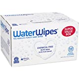 WaterWipes Sensitive Baby Wipes, Natural & Chemical-Free, 9 packs of 60 Count (540 Wipes)