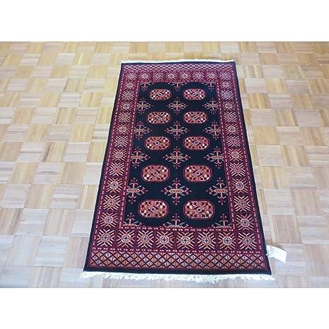 Amazon Com Oriental Rug Galaxy Bokara Oriental Black Wool Hand