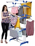 PAffy King Jumbo Cloth Drying Stand, 3 Pole 3 Layer (Multi Color)