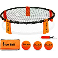 Funsparks Slam Ball Spike Game Set (Includes 3 Balls, Carrying Case, Rules Ball Pump)
