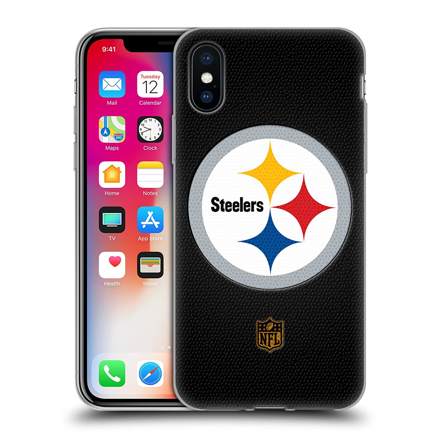 Official NFL Football Pittsburgh Steelers Logo Soft Gel Case for iPhone  X/iPhone Xs